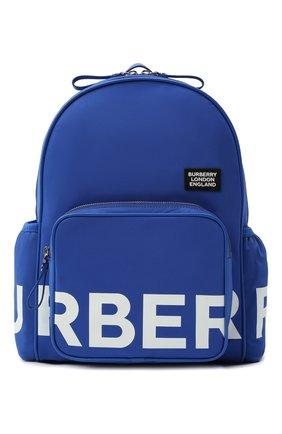 Детская рюкзак BURBERRY синего цвета, арт. 8041236 | Фото 1 (Материал: Текстиль)