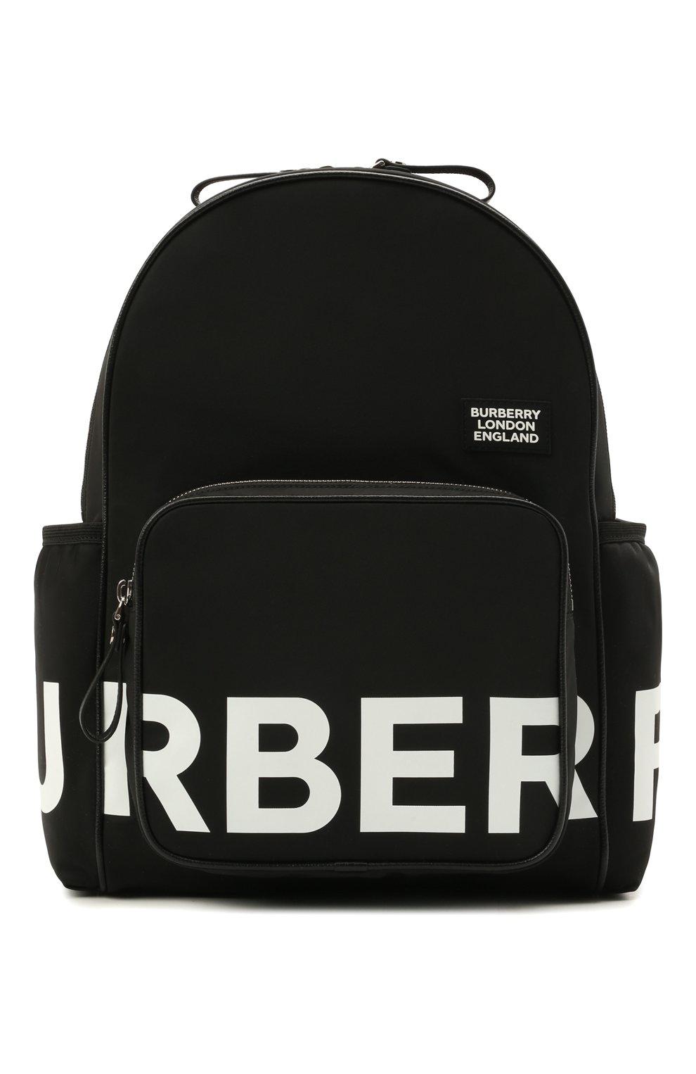 Детская рюкзак BURBERRY черного цвета, арт. 8041235   Фото 1 (Материал: Текстиль)