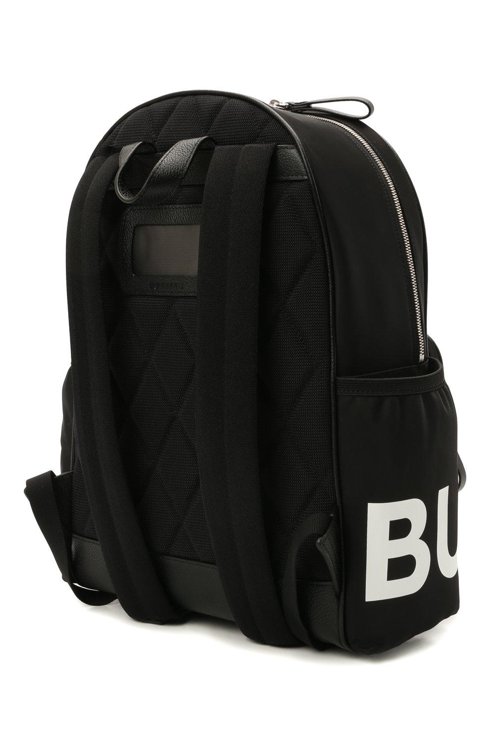 Детская рюкзак BURBERRY черного цвета, арт. 8041235   Фото 2 (Материал: Текстиль)