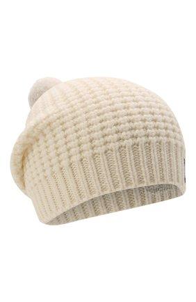 Детского шерстяная шапка DOLCE & GABBANA белого цвета, арт. LBKH68/JBVJ0 | Фото 1 (Материал: Шерсть)