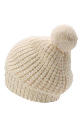 Детского шерстяная шапка DOLCE & GABBANA белого цвета, арт. LBKH68/JBVJ0 | Фото 2 (Материал: Шерсть)
