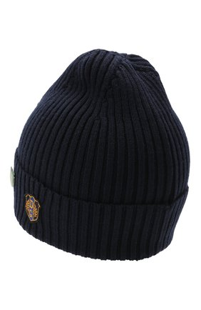 Детского шерстяная шапка DOLCE & GABBANA темно-синего цвета, арт. LBKH50/JBVJ4 | Фото 2