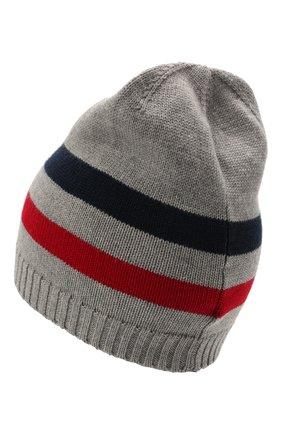 Детского шерстяная шапка DOLCE & GABBANA серого цвета, арт. LBKH41/JBVD1 | Фото 2 (Материал: Шерсть)