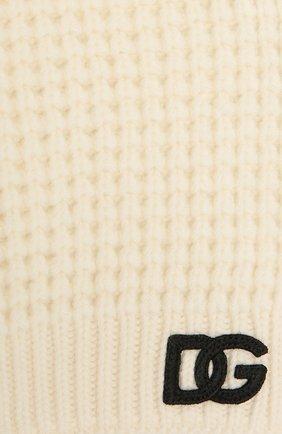 Детский шерстяной шарф DOLCE & GABBANA белого цвета, арт. LBKA91/JBVJ0 | Фото 2 (Материал: Шерсть)