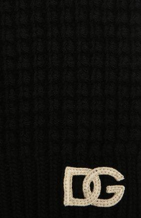 Детский шерстяной шарф DOLCE & GABBANA черного цвета, арт. LBKA91/JBVJ0 | Фото 2 (Материал: Шерсть)