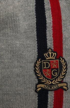 Детский шерстяной шарф DOLCE & GABBANA серого цвета, арт. LBKA85/JBVD1 | Фото 2 (Материал: Шерсть)