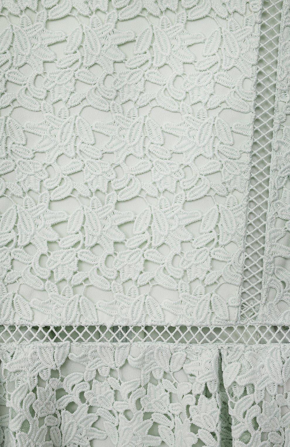 Детское платье SELF-PORTRAIT KIDS светло-зеленого цвета, арт. PF21-703   Фото 3 (Рукава: Короткие; Случай: Повседневный; Материал внешний: Синтетический материал; Материал подклада: Синтетический материал; Девочки Кросс-КТ: Платье-одежда; Ростовка одежда: 12 лет   152 см, 10 - 11 лет   140 - 146см, 5 лет   110 см, 4 года   104 см, 6 лет   116 см, 7 лет   122 см, 8 лет   128 см, 9 лет   134 см)