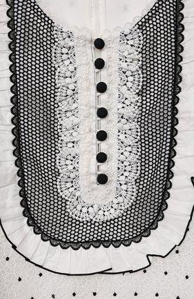 Детское платье SELF-PORTRAIT KIDS белого цвета, арт. PF21-701A   Фото 3 (Рукава: Короткие; Случай: Повседневный; Материал внешний: Синтетический материал; Материал подклада: Синтетический материал; Девочки Кросс-КТ: Платье-одежда; Ростовка одежда: 12 лет   152 см, 10 - 11 лет   140 - 146см, 5 лет   110 см, 4 года   104 см, 6 лет   116 см, 7 лет   122 см, 8 лет   128 см, 9 лет   134 см)