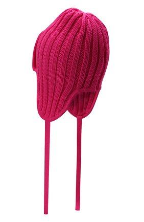 Детского шерстяная шапка CATYA фуксия цвета, арт. 125742 | Фото 2