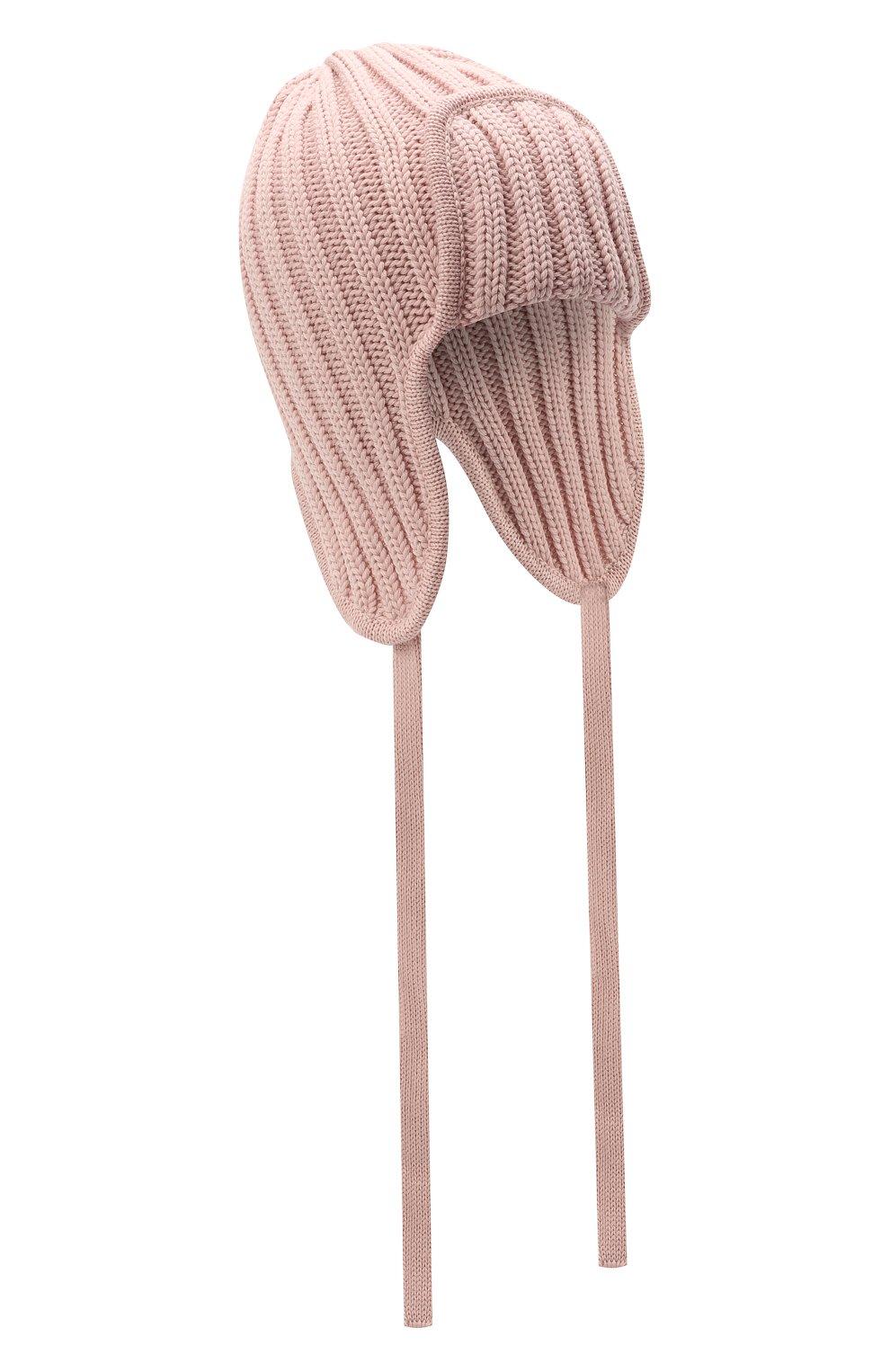 Детского шерстяная шапка CATYA розового цвета, арт. 125742 | Фото 1 (Материал: Шерсть)