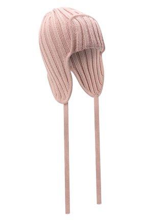 Детского шерстяная шапка CATYA розового цвета, арт. 125742 | Фото 1