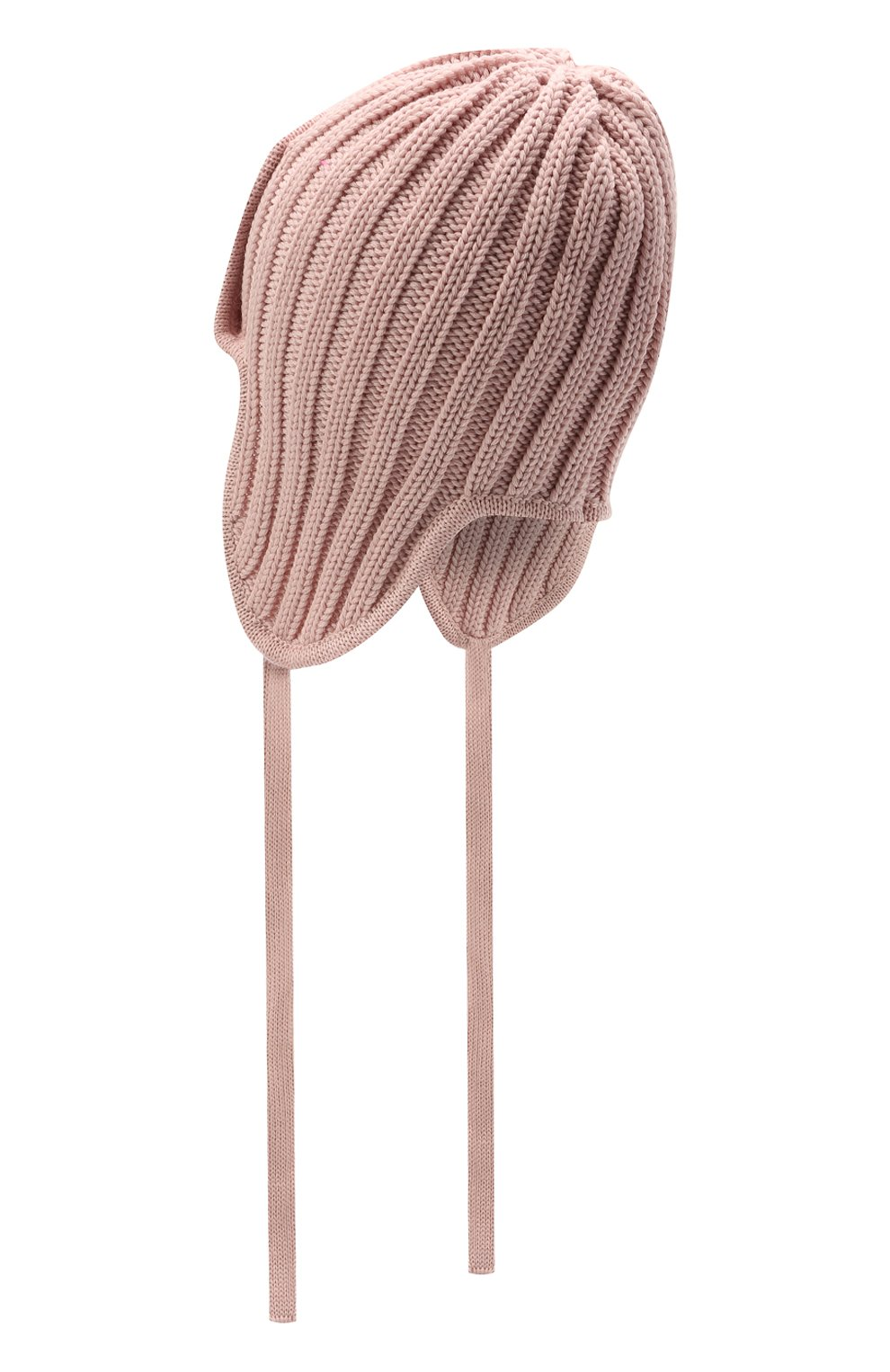 Детского шерстяная шапка CATYA розового цвета, арт. 125742 | Фото 2 (Материал: Шерсть)