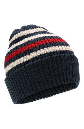 Детского шерстяная шапка CATYA темно-синего цвета, арт. 125717 | Фото 1