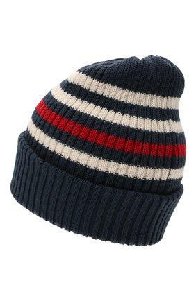 Детского шерстяная шапка CATYA темно-синего цвета, арт. 125717 | Фото 2