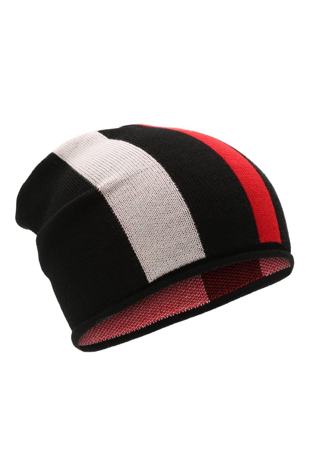 Детского шерстяная шапка CATYA черного цвета, арт. 125712 | Фото 1 (Материал: Шерсть)