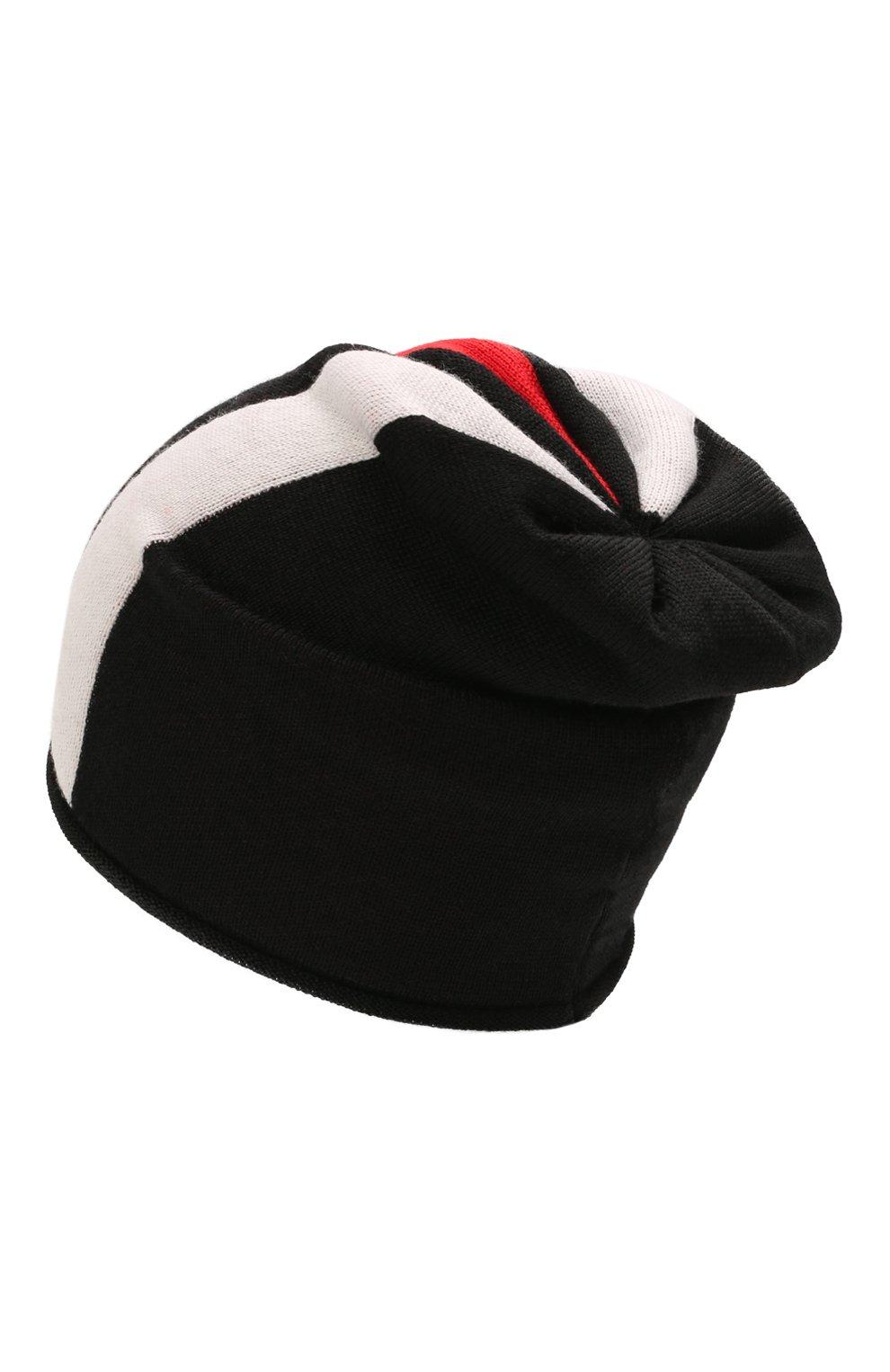 Детского шерстяная шапка CATYA черного цвета, арт. 125712 | Фото 2 (Материал: Шерсть)