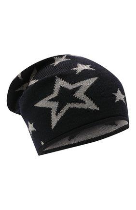 Детского шерстяная шапка CATYA темно-синего цвета, арт. 125704 | Фото 1