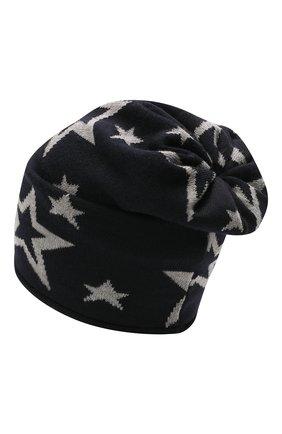 Детского шерстяная шапка CATYA темно-синего цвета, арт. 125704 | Фото 2
