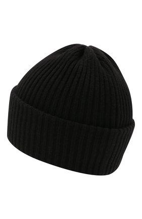 Детского шерстяная шапка CATYA черного цвета, арт. 125698 | Фото 2