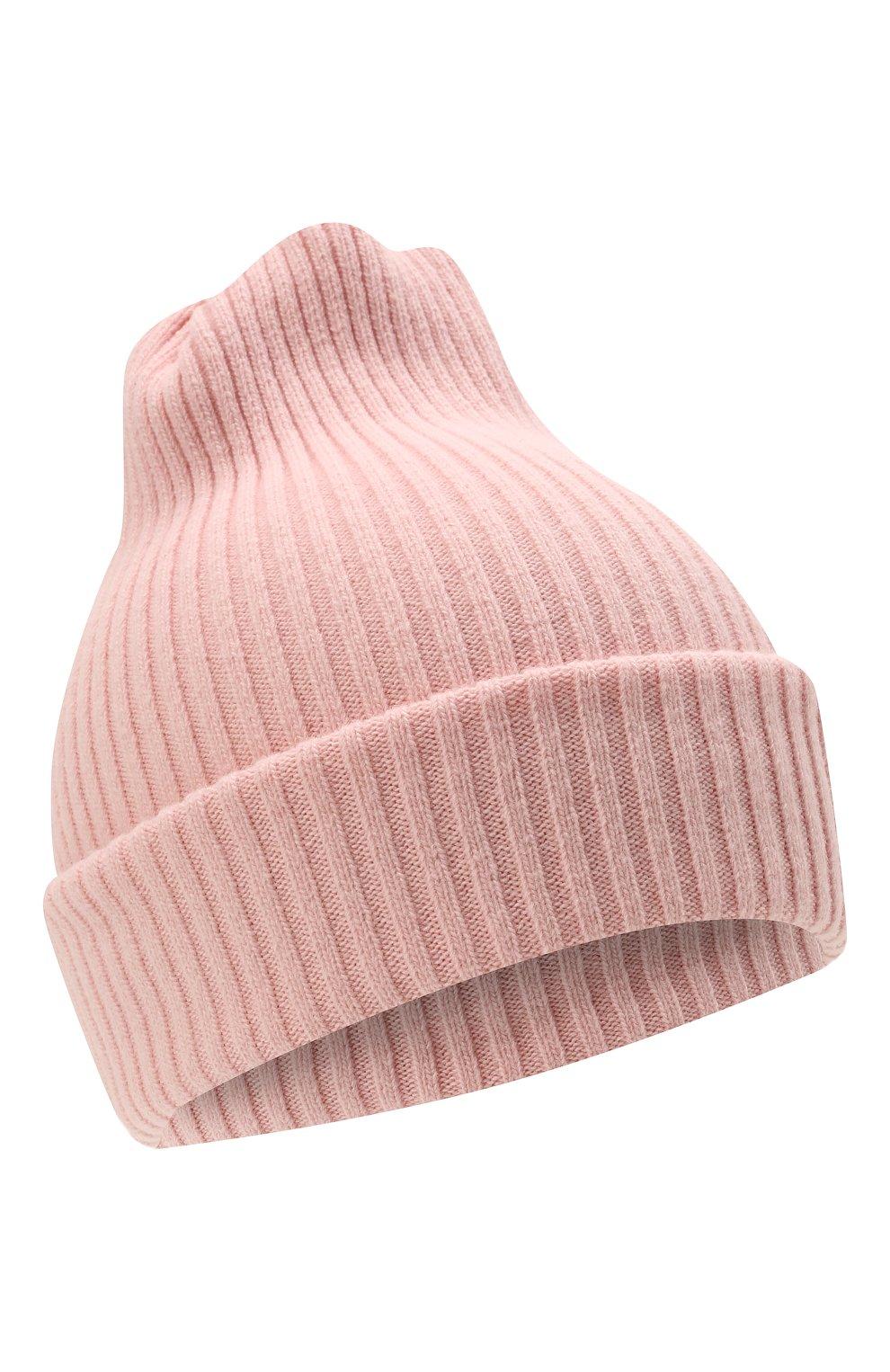 Детского шерстяная шапка CATYA розового цвета, арт. 125698 | Фото 1 (Материал: Кашемир, Шерсть)