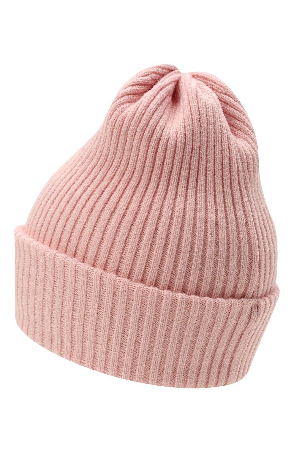Детского шерстяная шапка CATYA розового цвета, арт. 125698 | Фото 2 (Материал: Кашемир, Шерсть)