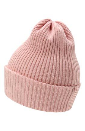 Детского шерстяная шапка CATYA розового цвета, арт. 125698 | Фото 2