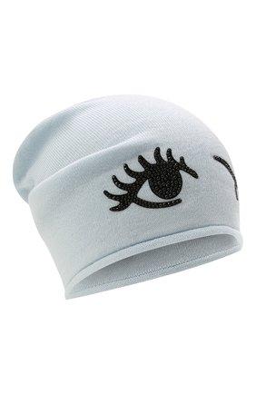 Детского шерстяная шапка CATYA светло-голубого цвета, арт. 125663 | Фото 1