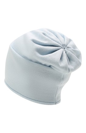 Детского шерстяная шапка CATYA светло-голубого цвета, арт. 125663 | Фото 2