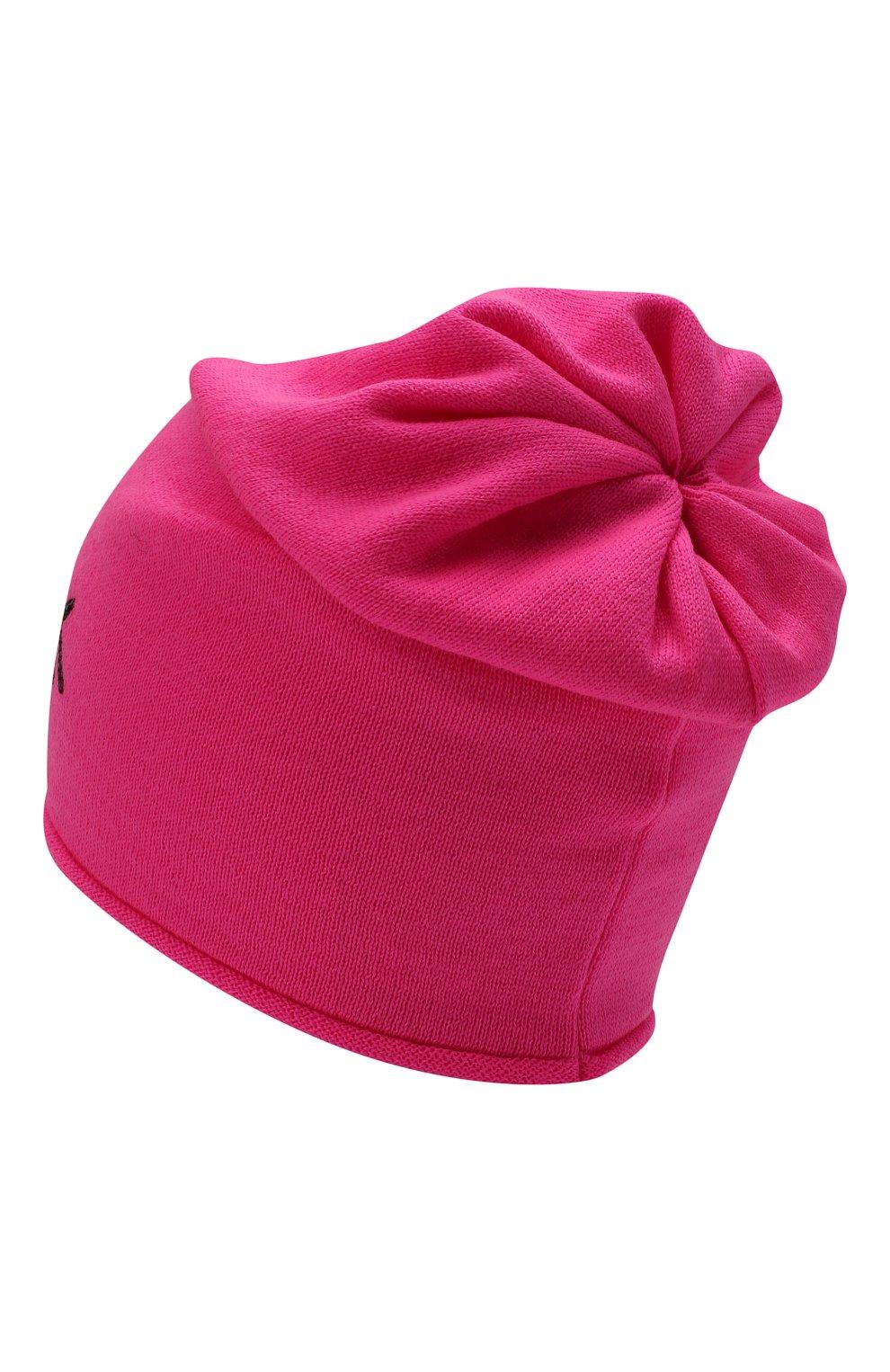 Детского шерстяная шапка CATYA фуксия цвета, арт. 125663 | Фото 2 (Материал: Шерсть)