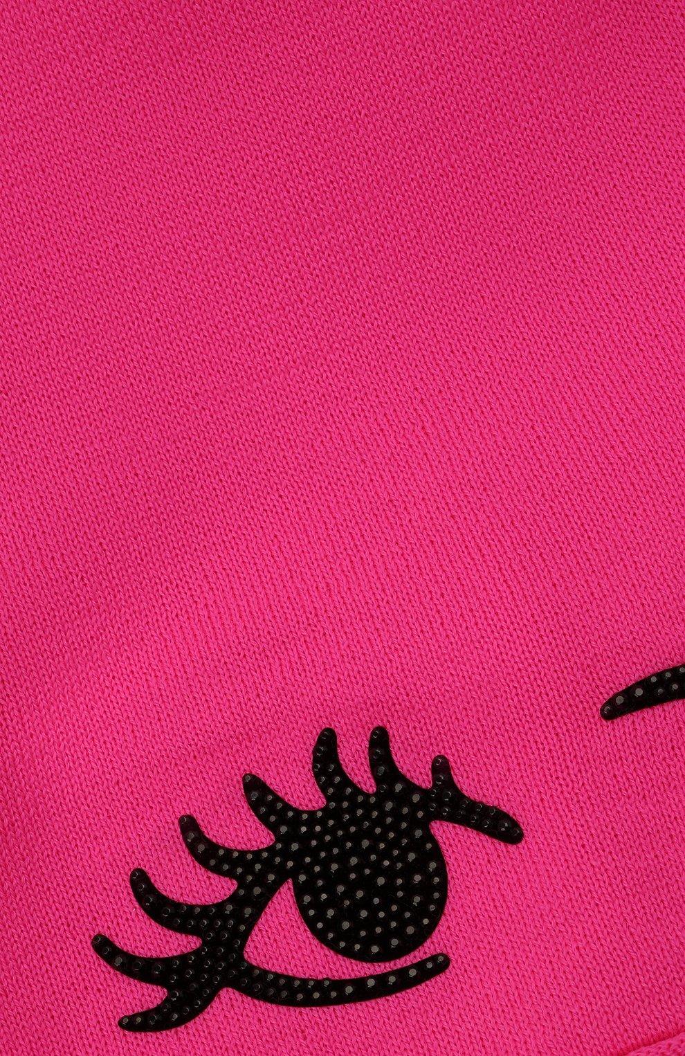 Детского шерстяная шапка CATYA фуксия цвета, арт. 125663 | Фото 3 (Материал: Шерсть)