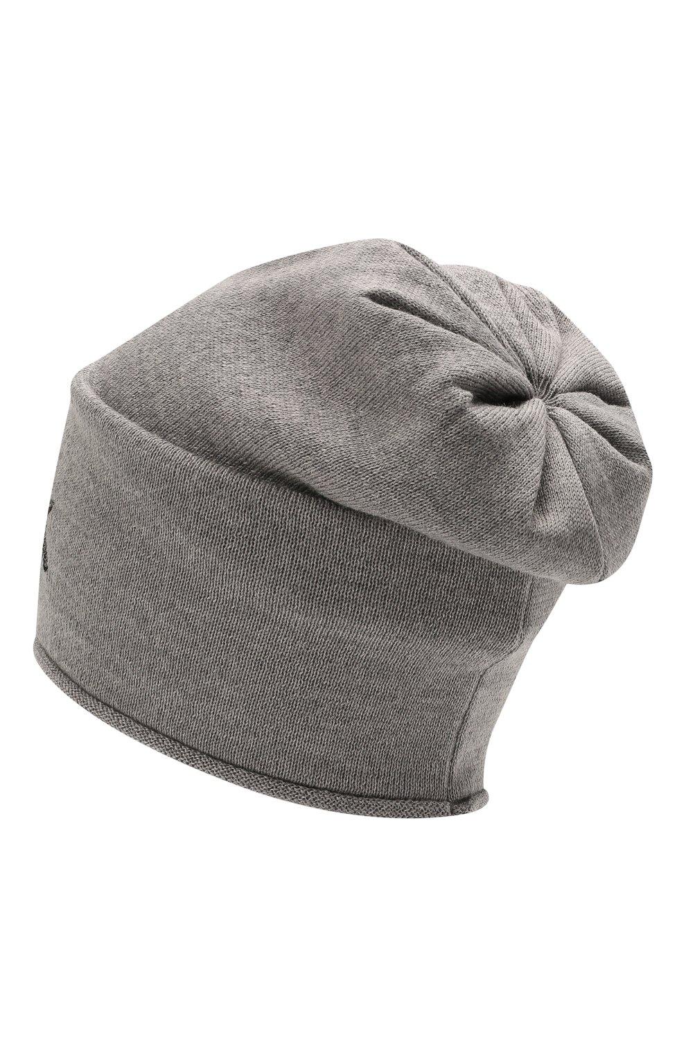 Детского шерстяная шапка CATYA серого цвета, арт. 125663   Фото 2 (Материал: Шерсть)