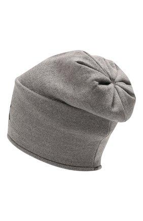 Детского шерстяная шапка CATYA серого цвета, арт. 125663 | Фото 2