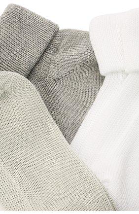 Детские комплект из трех пар носков CATYA хаки цвета, арт. 125557 | Фото 2 (Материал: Текстиль, Хлопок)