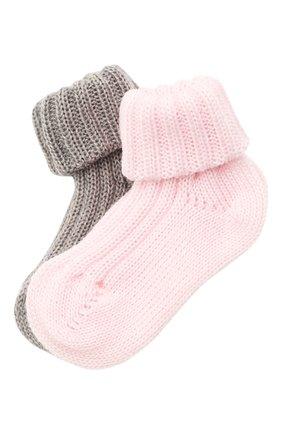 Детские комплект из двух пар носков CATYA разноцветного цвета, арт. 125556 | Фото 1 (Материал: Шерсть)