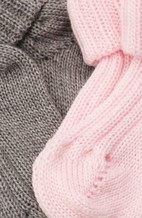 Детские комплект из двух пар носков CATYA разноцветного цвета, арт. 125556 | Фото 2 (Материал: Шерсть)