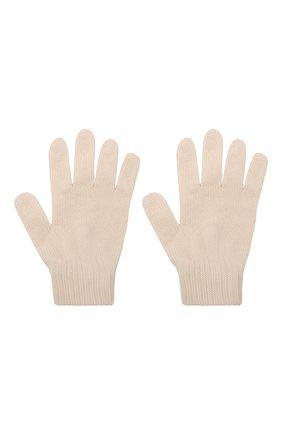 Детские шерстяные перчатки CATYA кремвого цвета, арт. 125545 | Фото 2
