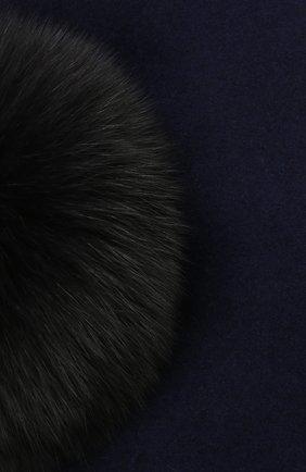 Детский шерстяной берет CATYA синего цвета, арт. 125517   Фото 3 (Материал: Шерсть)
