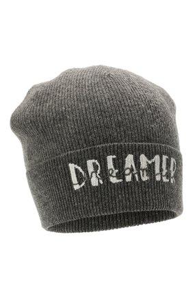 Детского кашемировая шапка BRUNELLO CUCINELLI темно-серого цвета, арт. B12M11299C | Фото 1