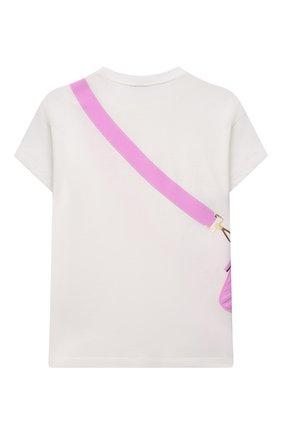 Детская хлопковая футболка FENDI белого цвета, арт. JFI242/7AJ/8A-12+ | Фото 2