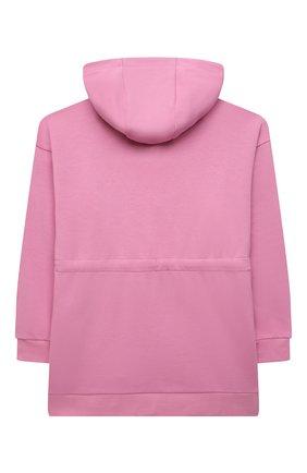 Детское хлопковое худи FENDI розового цвета, арт. JFH121/5V0/3A-6A | Фото 2