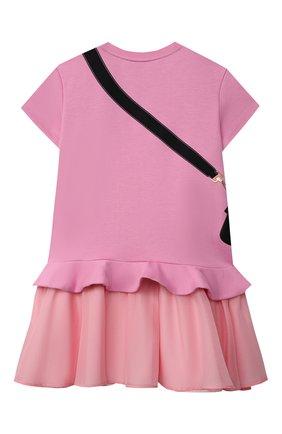 Детское хлопковое платье FENDI розового цвета, арт. JFB382/AG3Z/8A-12+ | Фото 2