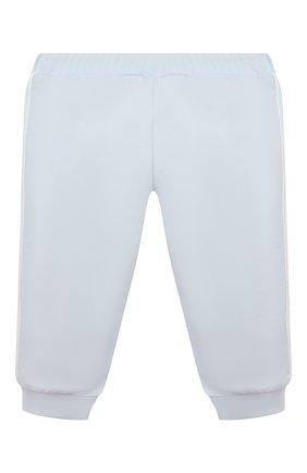 Детские хлопковые брюки FENDI голубого цвета, арт. BUF029/8RA/3M-9M   Фото 2 (Материал внешний: Хлопок; Ростовка одежда: 6 мес   68 см, 9 мес   74 см)