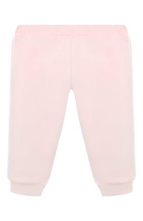 Детские хлопковые брюки FENDI розового цвета, арт. BUF029/8RA/3M-9M   Фото 2 (Материал внешний: Хлопок; Ростовка одежда: 3 мес   62 см, 6 мес   68 см, 9 мес   74 см)