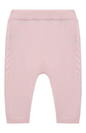 Детские хлопковые брюки FENDI розового цвета, арт. BFG044/AG1L/3M-9M   Фото 1 (Материал внешний: Хлопок; Ростовка одежда: 3 мес   62 см, 6 мес   68 см, 9 мес   74 см)
