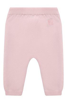 Детские хлопковые брюки FENDI розового цвета, арт. BFG044/AG1L/3M-9M   Фото 2 (Материал внешний: Хлопок; Ростовка одежда: 3 мес   62 см, 6 мес   68 см, 9 мес   74 см)