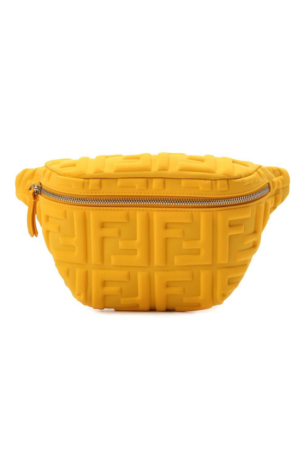 Детская поясная сумка FENDI желтого цвета, арт. 7VB011/AFU9 | Фото 1 (Материал: Текстиль)