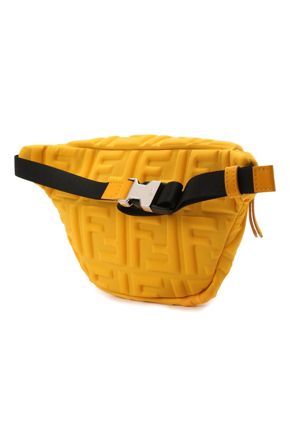 Детская поясная сумка FENDI желтого цвета, арт. 7VB011/AFU9 | Фото 2 (Материал: Текстиль)