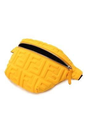 Детская поясная сумка FENDI желтого цвета, арт. 7VB011/AFU9 | Фото 3 (Материал: Текстиль)