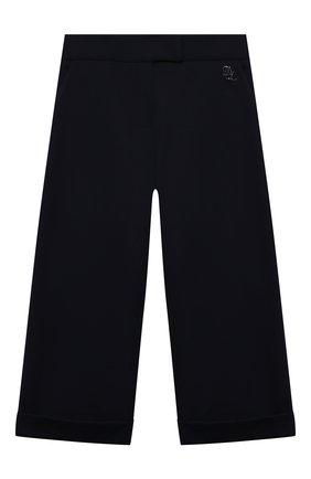 Детские брюки из вискозы DAL LAGO темно-синего цвета, арт. R208A/8111/7-12   Фото 1