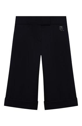 Детские брюки из вискозы DAL LAGO темно-синего цвета, арт. R208A/8111/4-6   Фото 1
